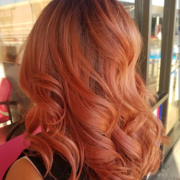Curly Copper-Colored Hair | Family-Friendly Hair Salon in Northridge, CA